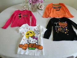 Mixed Lot Halloween Girls T-shirts U-PICK Design Color Size 4T OR 5T FREE SHIP