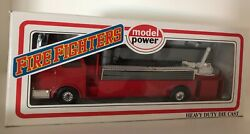 Model Power Fire Fighters Tower Ladder Truck O-scale 8968-1