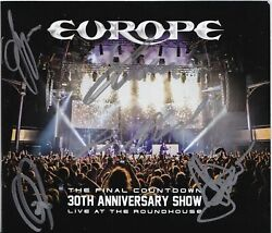 Europe Final Countdown 30th Anniversary 3 Cd/dvd Set Signed By All 5 Members