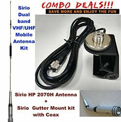 Sirio Hp 2070h Vhf/uhf Dual Band Mobile Antenna With Gutter Mount Kit