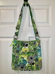 Vera Bradley Limes Up Large Hipster Pre-owned Retired Pattern Rare Green Mint