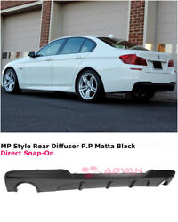 For 11-16 Bmw 5 Series F10 535i W/ M Sport   Mp Style Shark Fins Rear Diffuser