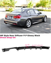 For 12-18 Bmw 3 Series F30 W/ M Sport | Mp Style Glossy Black Rear Diffuser