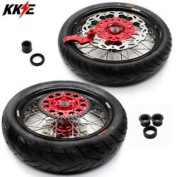 Kke 3.5/4.2517 Supermoto Wheels Rims Tires For Crf250x 2004 Crf450x 2005-2017