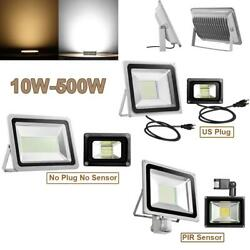 LED Flood Llight 10W-50W 100W 200W 300W 500W-1000W US Plug/PIR Sensor/DC12V