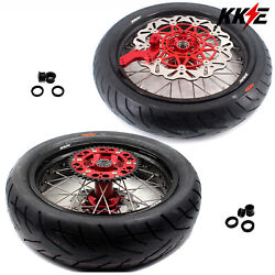 Kke 3.5/4.2517in. Supermoto Wheels Rims Tires Fit Crf250r Crf450r Crf450l 2020