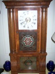 ANTIQUE BRASS KEY AND WEIGHT DRIVEN REGULATOR MANTEL CLOCK KEEPS PERFECT TIME