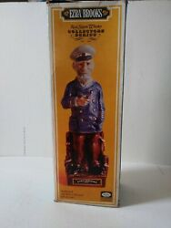 Large Rugged Old Sea Captain 1971 Gold Trim Ezra Brooks Decanter In Box