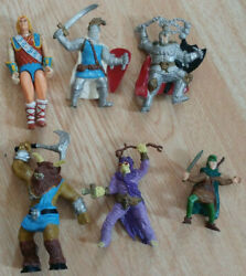 Vintage 1980s Tsr Hobbies Dungeons And Dragons Action Figures Lot X6 Knights Elf +