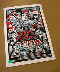 tyler stout hot fuzz poster silkscreen 07 | 1ST EDITION VARIANT signed numbered