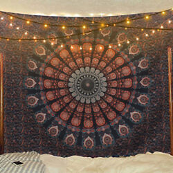 USA Stock Mandala Hippie Tapestry Room Wall Hanging Psychedlic Tapestry Home Dec