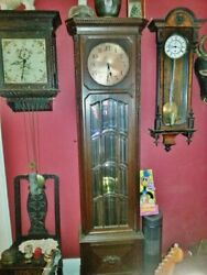 Craftsman Carved Beveled Glass High Quality Grandfather Clock