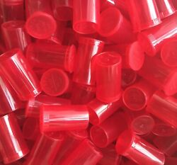 Red 19 Dram Pop Top Tube Bottles Rx Medicine Sport Pill Usa 1 Bx 900 Containers