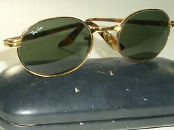 VINTAGE Bamp;L RAY BAN W2128 PPAS G15 CRYSTAL LENS OVAL CROSSWALK SUNGLASSES w CASE $179.99