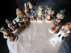 Collection Of Eight 8 Hummel/goebel Figurines All In Faultless Condition