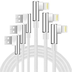 Boost 3ft 6ft 10ft Phone Charger Cable 3-pack 90 Degree Right Angled Data Li...