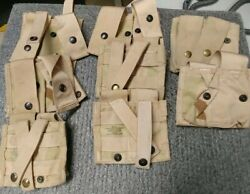 Lot Of 16 Used/new Usmc 40mm Molle Ii Grenade Pouches Coyote Brown Army Surplus