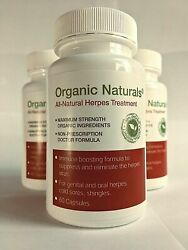 All Natural Herpes Treatment Capsules by Organic Naturals 60 Capsules