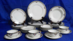 Antique Macy's Limoges France By Bandco L. Bernardaud 7 Piece Place Setting For 4