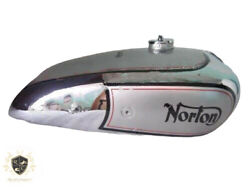 Norton Model 18 Hand Gear Chrome And Silver Petrol Tank 1930and039s With Cap fit For