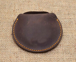 mens women ladies coin cash ear phone holder clutch soft Brown leather 4 for 15$