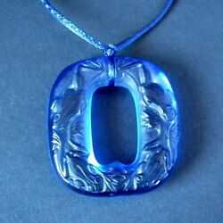 Rene Lalique Electric Blue Glass And039grenouillesand039 Pendant