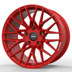 18 Momo Rf-20 Red 18x8.5 Concave Forged Wheels Rims Fits Volkswagen Rabbit