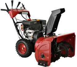Amico 28 In. 252cc Two-stage Electric And Recoil Start Gas Snow Blower/thrower New