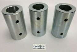 Lot Of 3- Climax Rc-150-s-kw Rigid Shaft Coupling For 1-1/2 Shafts W/set Screws