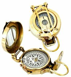 Nautical Shiny Brass Military Compass Unique Compass Collectibles Item