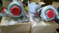 Twin T04e Turbo Kit Exact Fit 79-93 Ford Fox Body Mustang 5.0l With Intercooler