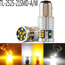 4X 12V 21SMD 8000K AW TLcanbus Car Driving Turn Light With conversion function