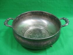 Vintage English Silver Mfg Corp Serving Dish Bowl Made In Usa