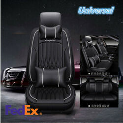 All Black PU Leather Car And Comfortable Cushion Cover Decorated Inside The Car