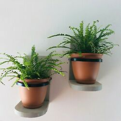 Wooden Wall Planter Hanging Hand Crafted Set of 2