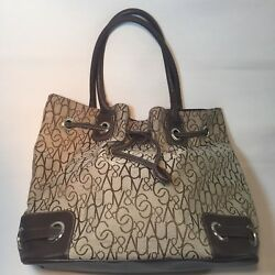 Designer NY&Co Brown Shoulder Bag Handbag Tote Purse EUC!
