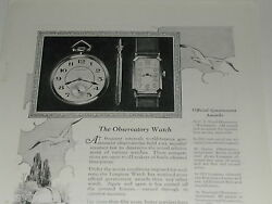 1924 Wittnauer Watch Advertisement, Longines Wrist And Pocket Watches, Observatory