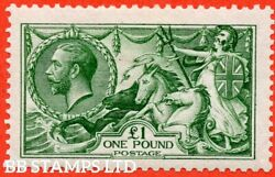 Sg. 403 Variety N72 2. Andpound1.00 Deep Green. A Fine Lightly Mounted Mint E B46918