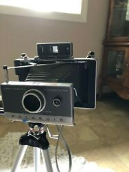 VintagePolaroid Automatic 100 Land Camera complete with leather case/straps