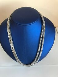 10k Solid White Gold Chain Square Cut 38 Inches