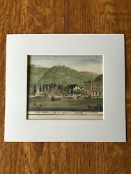 W Heising Saloon And Brewery Red Wing Mn 1874 Original Hand Colored