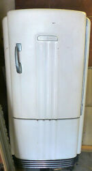 Vintage Refrigerator 1939-and03940 General Electric Type B5-39-a Still Runs