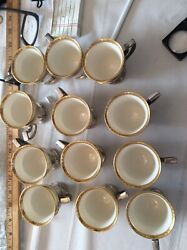 12 International Sterling Silver And Lenox Cups Demi Tasse Cups