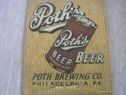 1940and039s Pothand039s Beer In Steinie Bottles And Flat Top Cans Philadelphia Pa Matchcover
