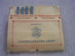 Ww Ii United States Army Pull Quick Retains 4 Of 10 Matches Matchbook