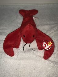 Pinchers- Ty Beanie Baby Collection Plush Toy Retired 1993 Lobster