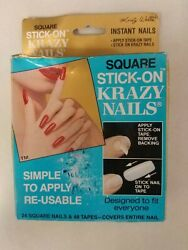 Vintage Nails / Tipspack Of 24 Krazy Nails Unique Old Retro Items Nice