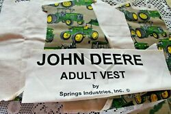 John Deere Vest And Muslin Lining Fabric Kit Adult 100 Cotton Flannel