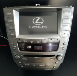 06-07-08-09 LEXUS IS250 IS350 RADIO CD NAVIGATION SYSTEM CLIMATE, 86111-53050
