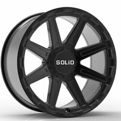 20 Solid Atomic Black 20x9.5 Forged Concave Wheels Rims Fits Jeep Wrangler Yj